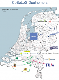 All participants on the map of the Netherlands